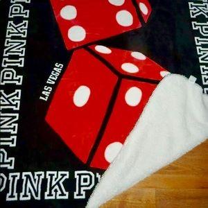 Victoria Secret PINK Dice Sherpa Blanket